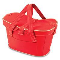 Picnic Time Mercado Empty Picnic Cooler Basket, Red
