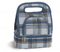 Picnic Plus Savoy Lunch Tote with Storage Container - Varsity Plaid