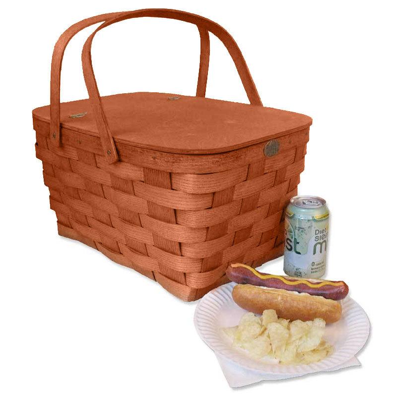 Picnic Basket Empty : Peterboro basket co honey color empty family picnic
