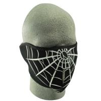 Cold Weather Headwear Neoprene 1/2 Face Mask, Spider Web