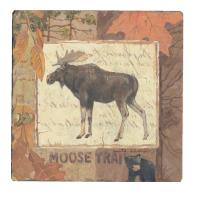 Counter Art Moose Tracks Tumbled Tile Coasters Set of 4