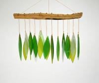 Blue HandWorks Spring Leaves & Driftwood Glass Chime