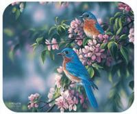 Fiddler's Elbow Bluebirds Mouse Pad