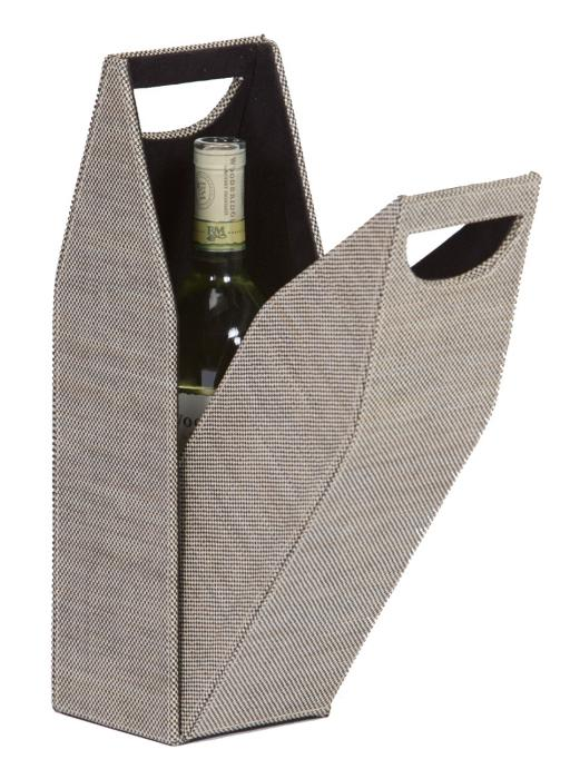 Picnic Plus Single Bottle Wine Box - Tweed