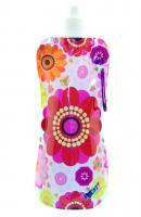 Zee's Creations Pocket Bottle, Multi Colored Flowers