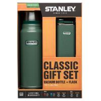 Stanley Classic Hammertone Green 1 Quart Vacuum Bottle and 8oz Flask Combo
