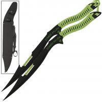 Zombie Armageddon Cutter War Blade Set, Neon Green Nylon Cord Wrapped
