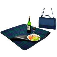 Picnic at Ascot Picnic Blanket Tote, Woven Acrylic, Blackwatch Plaid