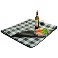 Picnic At Ascot Outdoor Picnic Blanket with Water Resistant Backing -Grey Buffalo Check