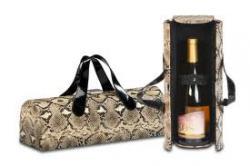 Picnic Plus Carlotta Clutch Wine Bottle Tote Snake