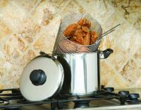 Cook Pro 6-Quart 18/10 Stainless Steel Stovetop Deep Fryer/Stock Pot