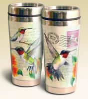 American Expeditions Hummingbird Postcard Steel Travel Mug