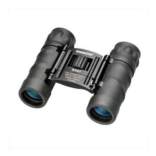 Tasco 8x21mm Black Roof Prism Essentials Compact Binoculars, Clam