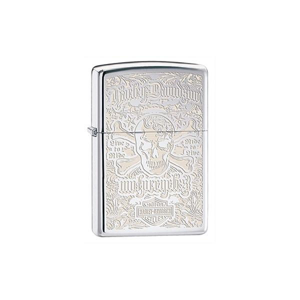 Zippo High Polish Chrome Lighter, Harley Davidson Summer Dealer Edition