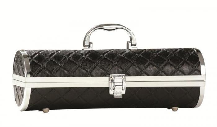 Primeware Gala - Sassy Wine Purse, Black Quilted