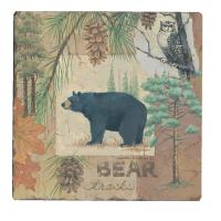 Counter Art Bear Tracks Tumbled Tile Coasters, Set of 4