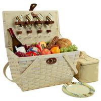 Picnic at Ascot Settler Traditional American Style Picnic Basket with Service for 4 - Santa Cruz