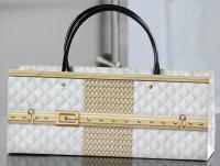Giftcraft Quilted Handbag Design Wine Bottle Gift Bag