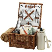 Picnic at Ascot Cheshire Basket for 2 w/Coffee Set & Blanket -Gazebo