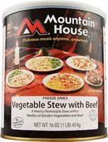 Mountain House Vegetable Stew with Real Beef - 8.5 One Cup Servings