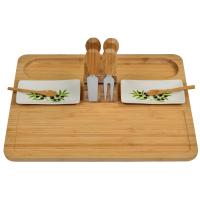 Picnic at Ascot Sherborne Bamboo Cheese Board Set with 4 Tools