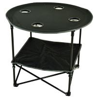 Picnic at Ascot Travel Folding Table for Picnics and Tailgating - Black