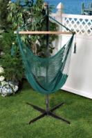 Bliss Hammocks Tahiti Cotton Rope Hammock Chair - Green