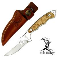 Master Cutlery Fixed Blade Maple Burl Hunter