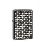 Zippo Diamond Engraved Ebony Armor Lighter
