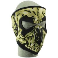 Cold Weather Headwear Neoprene Face Mask, Skull