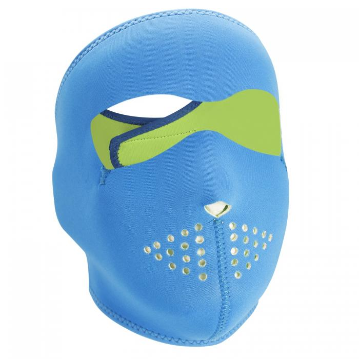 ZANheadgear Neoprene Full Mask - Neon Blue Reverses to Lime