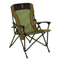 Browning Fireside Chair - Pink Buckmark, Pro-Tec Powder Coating - Khaki/Coal