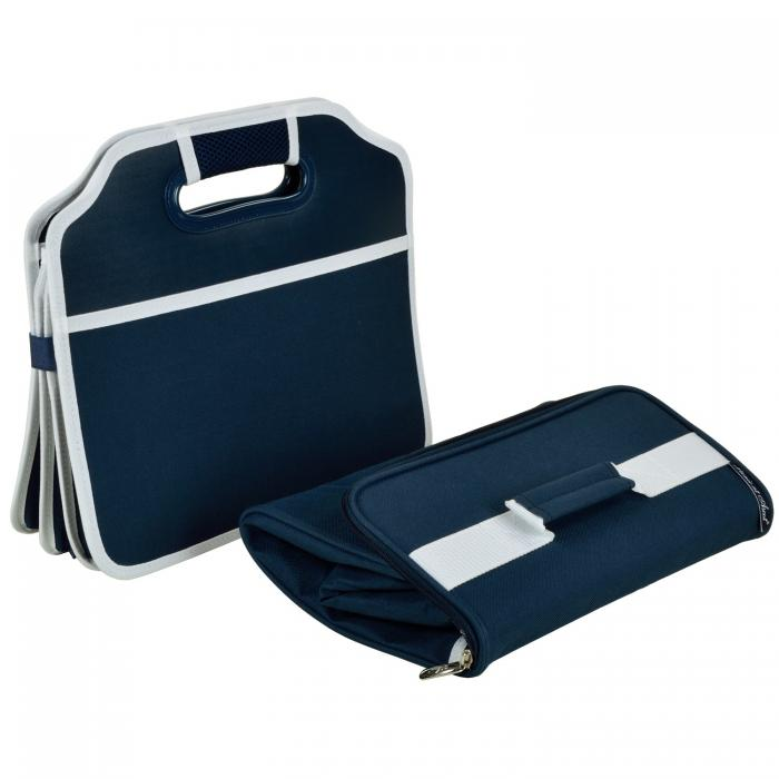 Original Folding Trunk Organizer with Cooler by Picnic at Ascot - Navy