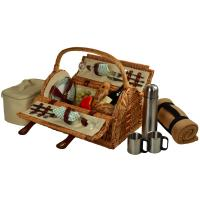 Picnic at Ascot Sussex Picnic Basket for 2 w/Blanket & Coffee, Wicker/Gazebo