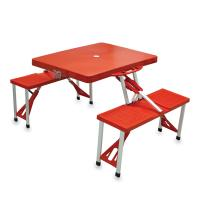 Picnic Time Picnic Table, Portable w/ 4 Seats, Red