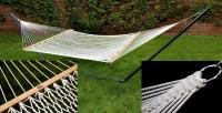 Bliss Hammocks Classic Cotton Rope Hammock - Canvas White