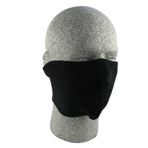 Cold Weather Headwear Neoprene Half Mask, Oversized, Solid Black