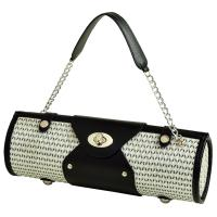 Picnic at Ascot Wine Purse -  Black/ White