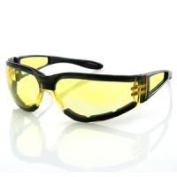 Bobster Action Eyewear Shield II Sunglass, Black Frame, Yellow Lens