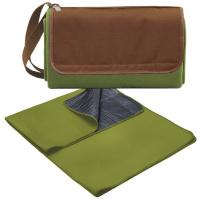 Picnic Time Blanket Tote - Pine Green/Camel Brown