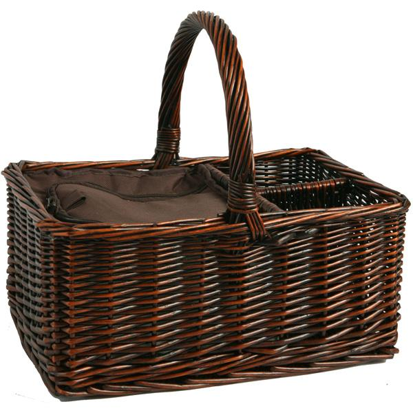 Picnic & Beyond Empty Willow Cooler Basket