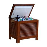 Merry Products Wooden Patio Cooler with Double Wall Plastic Cooler Insert