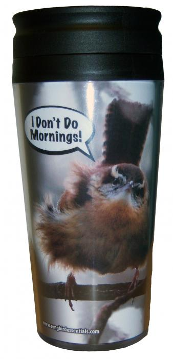"Songbird Essentials Poly Thermal Mug ""I Don't Do Mornings"""