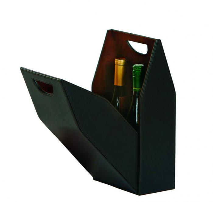 Picnic Plus Signature Double Bottle Box - Brown