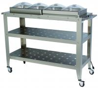 BroilKing Professional Grand Size Warming Cart w/ 4 1/2 Size Pans & 4 1/2 Size Lids