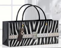 Giftcraft Zebra Print Handbag Design Wine Bottle Gift Bag