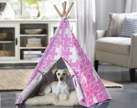 Merry Products Pink Puzzle Medium Pet Teepee