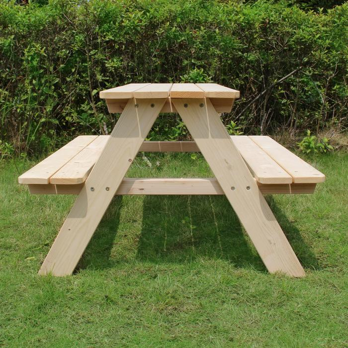 Merry Products Kids Wooden Picnic Table