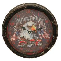 Motorcycle Metal Clock 15""