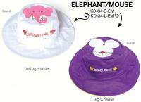 Luvali Convertibles Elephant Mouse Reversible Kids' Hat Small